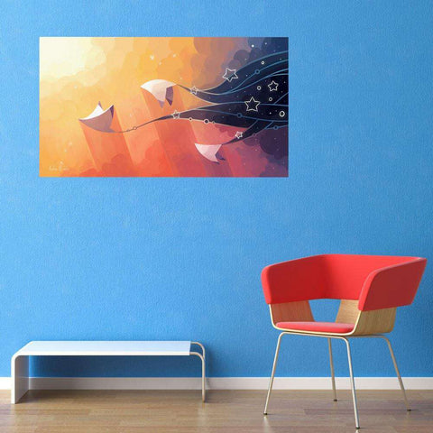 Stingray Fantasy Art Decal - Nightbringers by Indre Bankauskaite