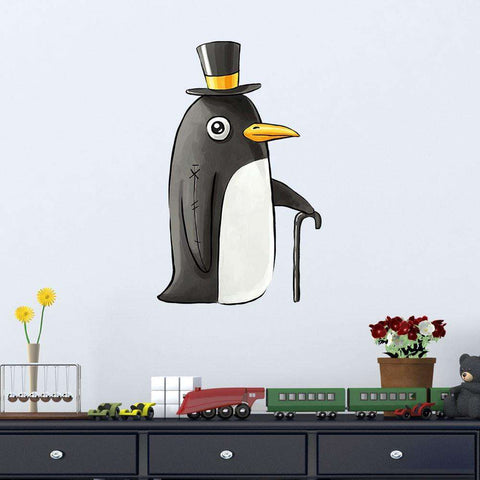 Digital Animal Art Wall Sticker Decal – Penguin by Indre Bankauskaite