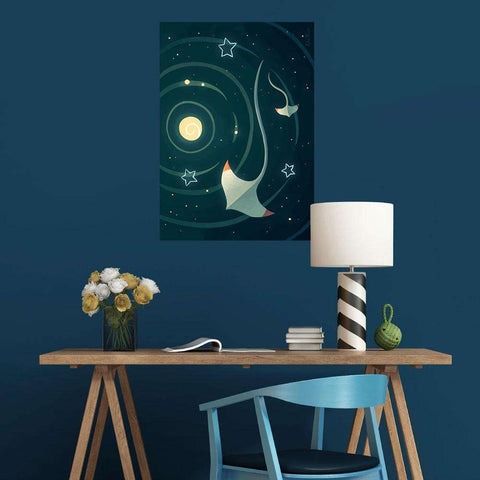 Spaceray Fantasy Art Wall Decal by Indre Bankauskaite