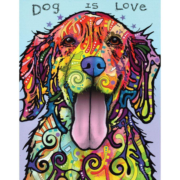 Dog Pop Art Wall Sticker Decal Dog Is Love By Dean Russo