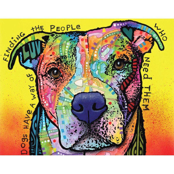 Pit Bull Splash Art Wall Decal Dogs Have A Way By Dean Russo