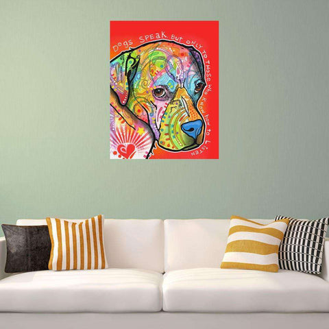 Boxer Pop Art Wall Decal - Dogs Speak by Dean Russo