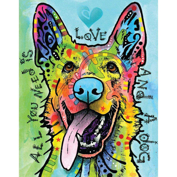 German Shepherd Pop Art Decal Love And A Dog By Dean Russo
