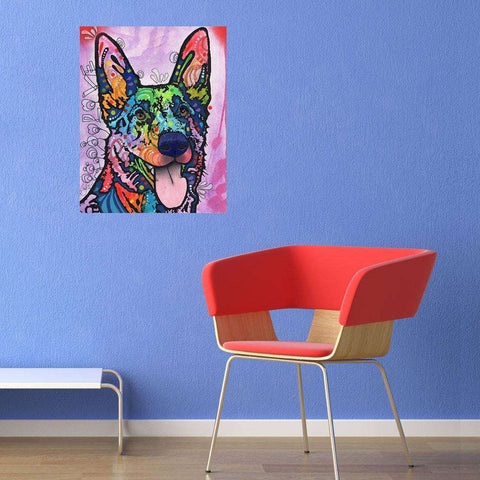 German Shepherd Pop Art Decal - Shepherd Love by Dean Russo