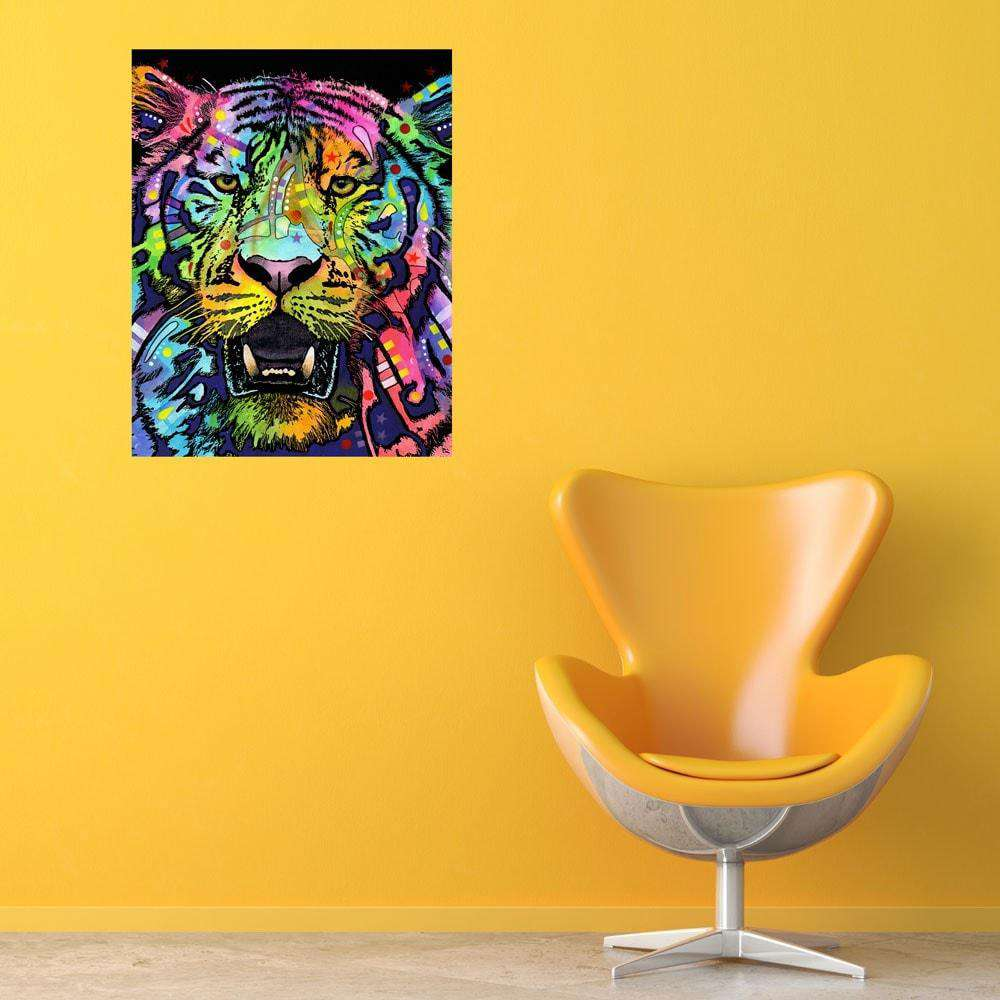 Tiger pop art wall decal wild by dean russo for Pop wall art