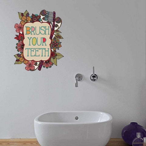 Brush Your Teeth Wall Decal by Valentina Harper