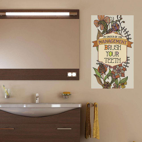 Brush Your Teeth Wall Sticker by Valentina Harper