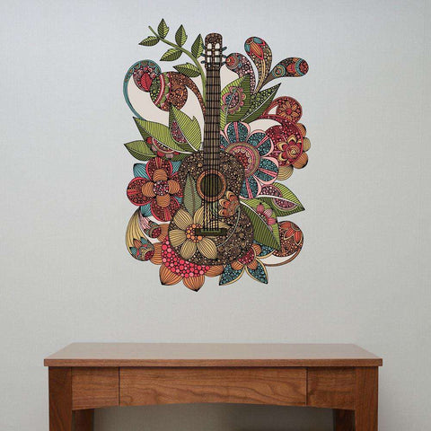 Ever Guitar Floral Wall Decal by Valentina Harper
