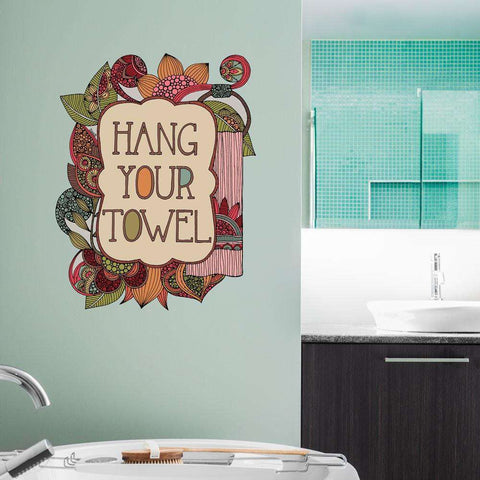 Hang Your Towel Motivational Sticker by Valentina Harper
