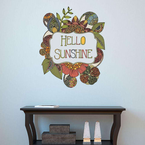 Hello My Sunshine Positive Vibe Decal by Valentina Harper
