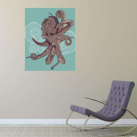 Octopus Bloom Sea Life Decal by Valentina Harper