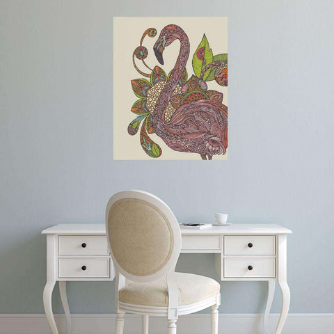Royal Flamingo Floral Art Wall Decal by Valentina Harper