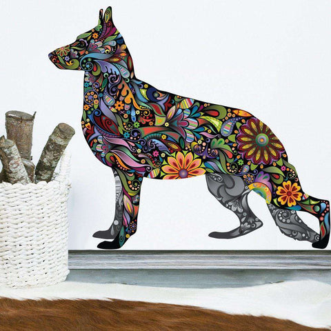 German Shepherd Dog Decal Wall Sticker
