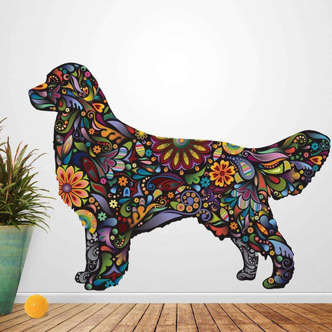 Golden Retriever Dog Decal Wall Sticker