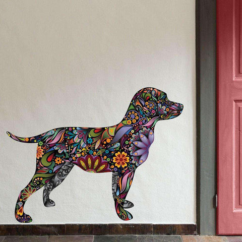 Labrador Retriever Dog Decal Wall Sticker
