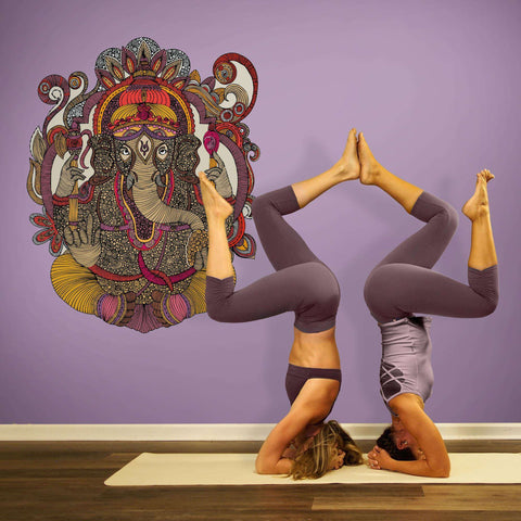 Ganesha Wall Sticker Decal by Valentina Harper