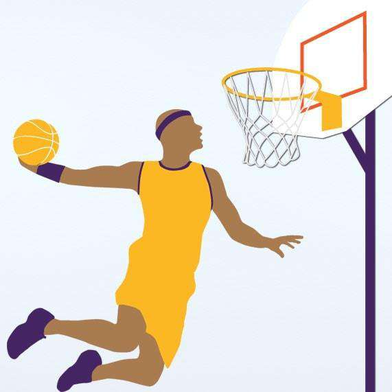 Basketball wall mural stencil kit my wonderful walls for Basketball mural