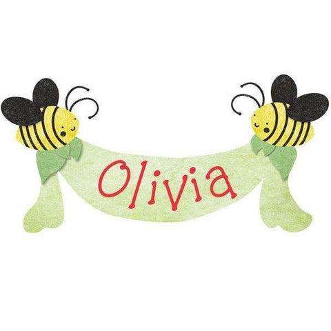 Personalized Bee Banner Wall Sticker