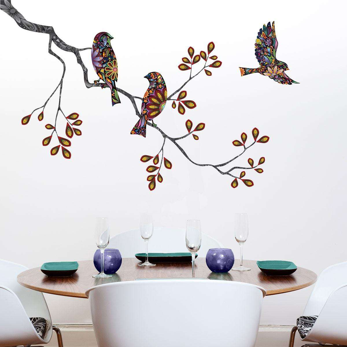 Animal stencils stickers and coordinating home decor for children birds and tree branch wall sticker decal amipublicfo Images