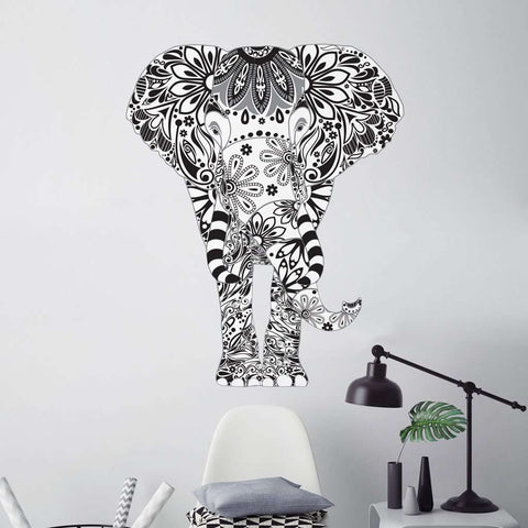 Grey Elephant Wall Sticker