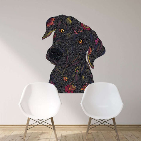 Black Labrador Retriever Wall Decal - Rocco by Valentina Harper