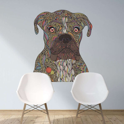 Boxer Dog Decal - Pepper by Valentina Harper