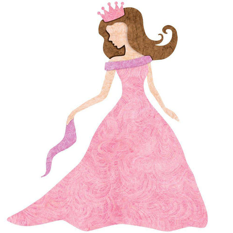 Princess Wall Sticker (Fair/Brunette)