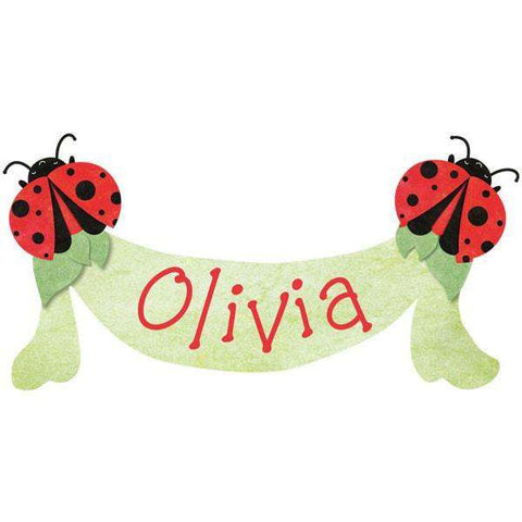 Personalized Ladybug Banner Sticker