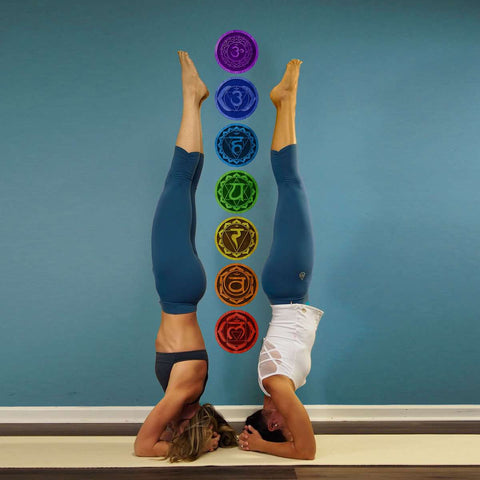 7 Chakras Yoga Wall Decals