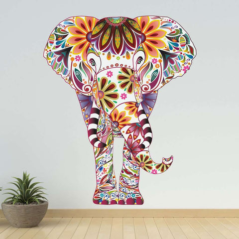 Colorful Elephant Wall Decal
