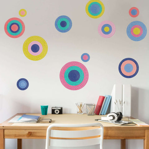 Polka Dot Wall Decals – Set of 12 – Precious Collection