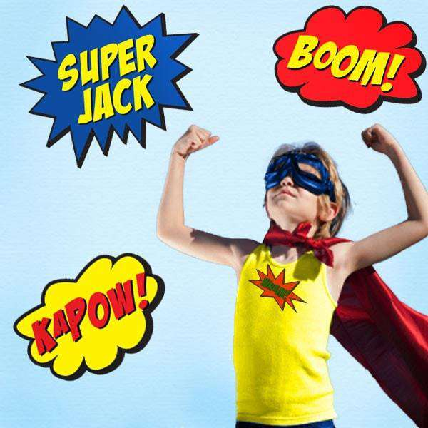 super hero wall stickers comic book speech bubbles wall stickers super heros purple and tiger