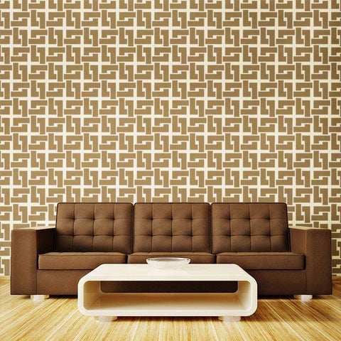 Craftsmen Pattern Wall Stencil - Self-Adhesive