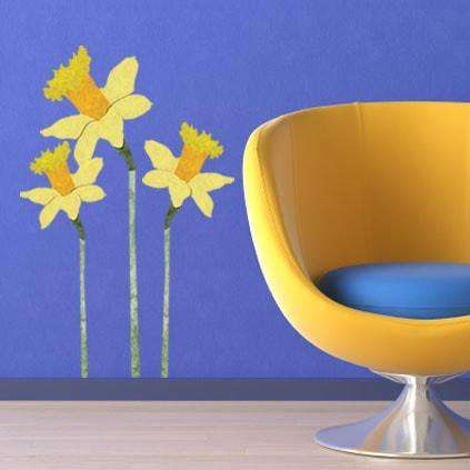 daffodil wall stickers