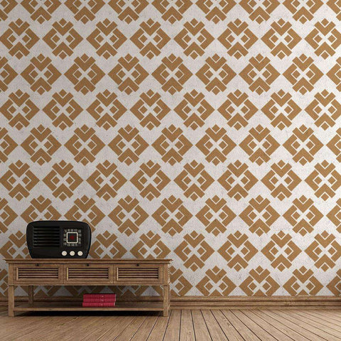 Diamondback Pattern Wall Stencils - Self-Adhesive