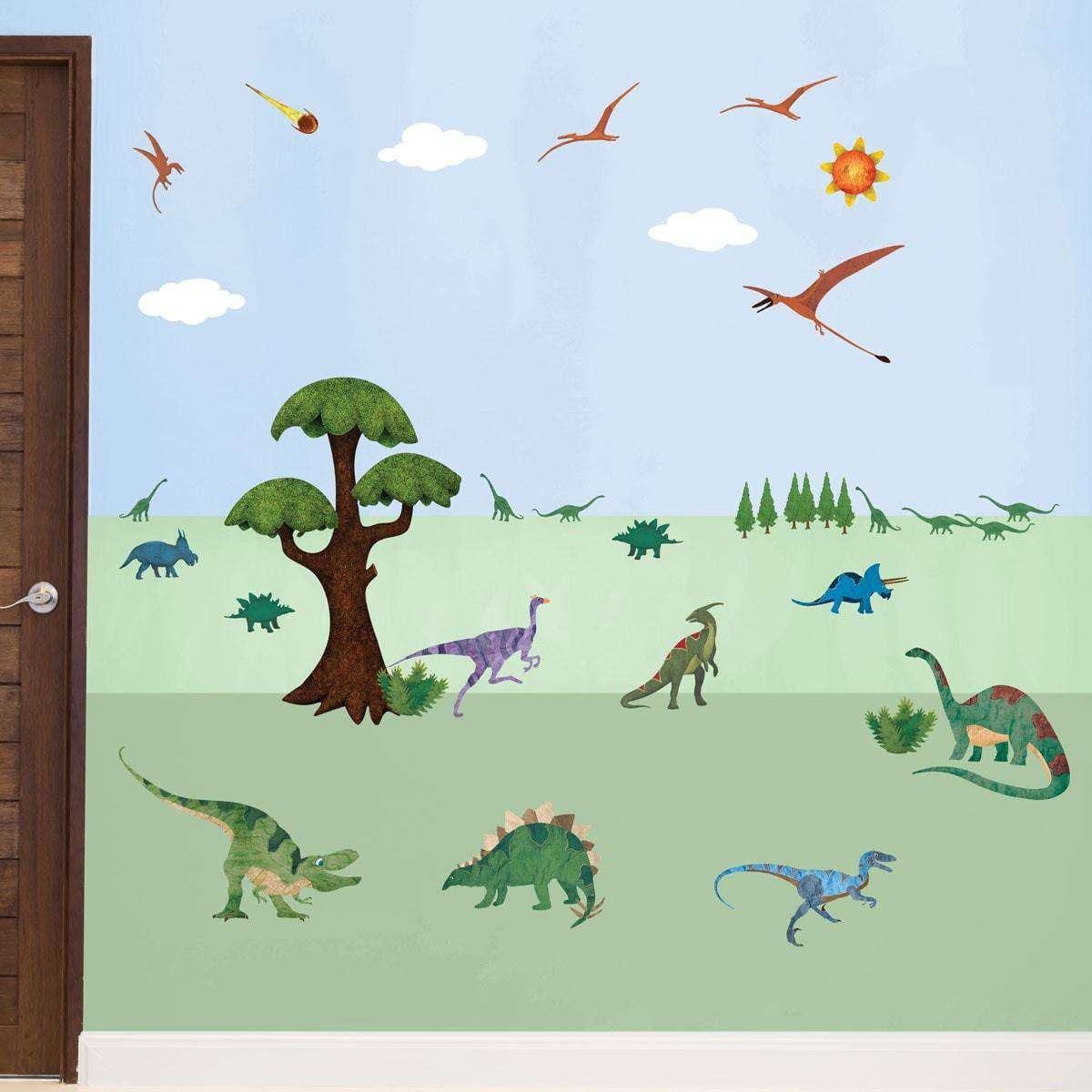 Dinosaur Wall Decals U2013 Peel U0026 Stick Dinosaur Wall Stickers For Dinosaur  Themed Room ...