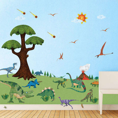 Dinosaur Stencils, Stickers and Coordinating Home Decor for Children