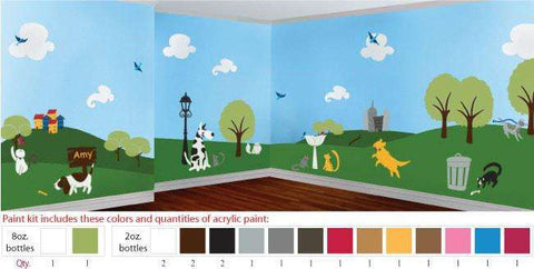 Paws Park Stencil Paint Kit