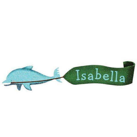 Personalized Dolphin Banner Wall Sticker