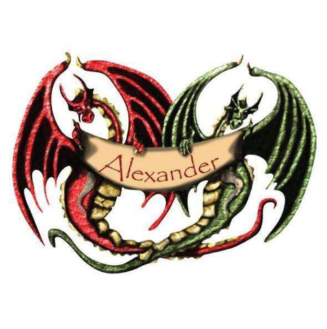 Personalized Dragon Banner Wall Sticker
