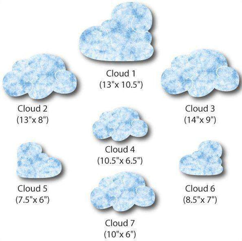 Cloud Wall Stickers Set 1