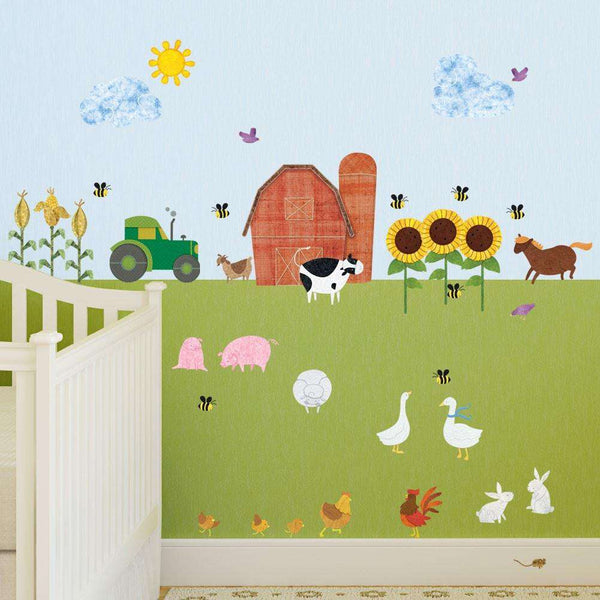 Farm Wall Decals Peel Amp Stick Farm Theme Wall Mural