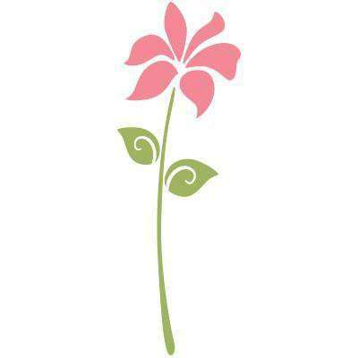 Large flower stencil for painting flowers for girls flower - Flower stencils for walls ...