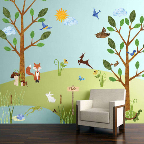forest wall sticker mural