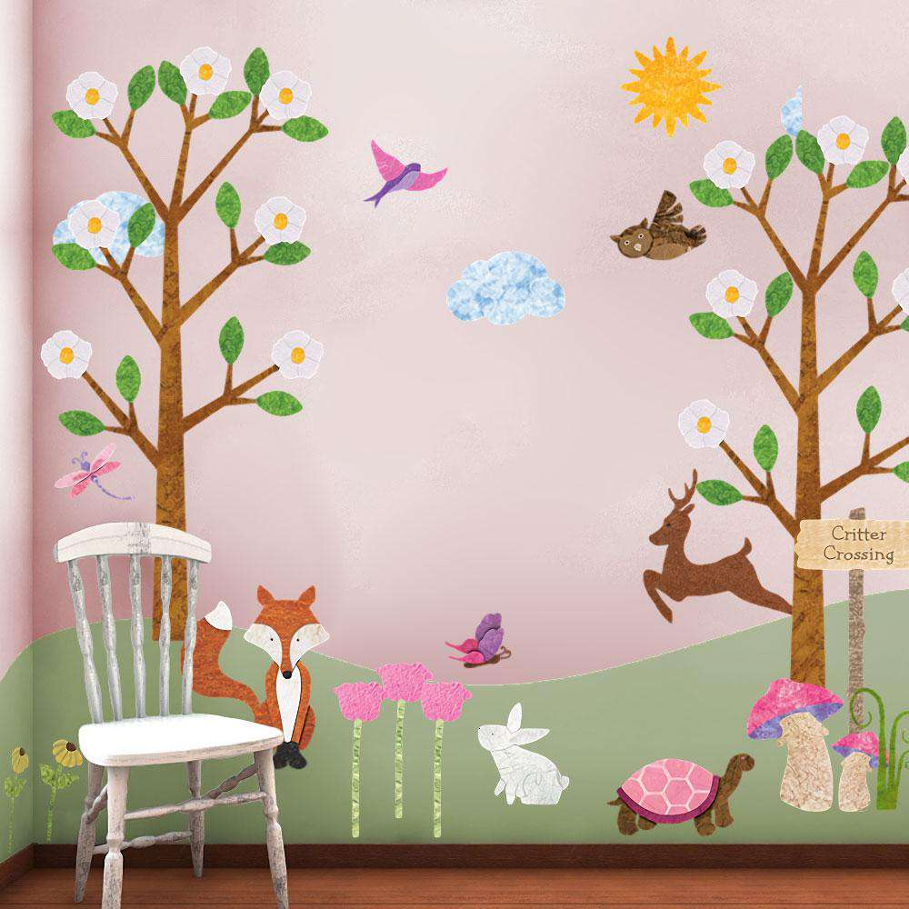 Forest Friends for Girls Wall Sticker Kit Forest Animal Decals