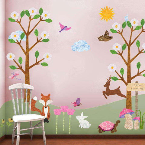 forest wall mural sticker for girls
