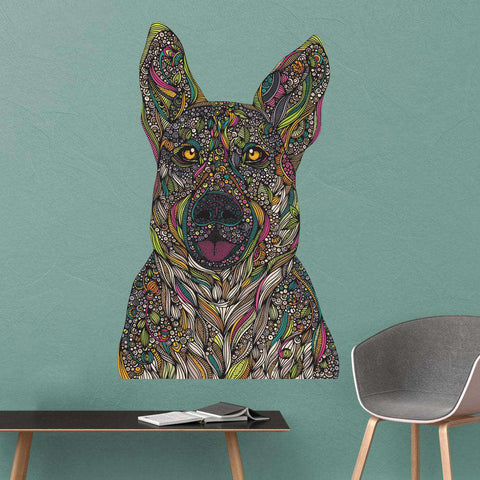 German Shepherd Dog Wall Decal - Baxter by Valentina Harper