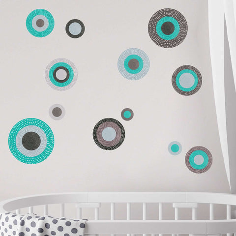 Polka Dot Wall Decals – Set of 12 – Serenity Collection
