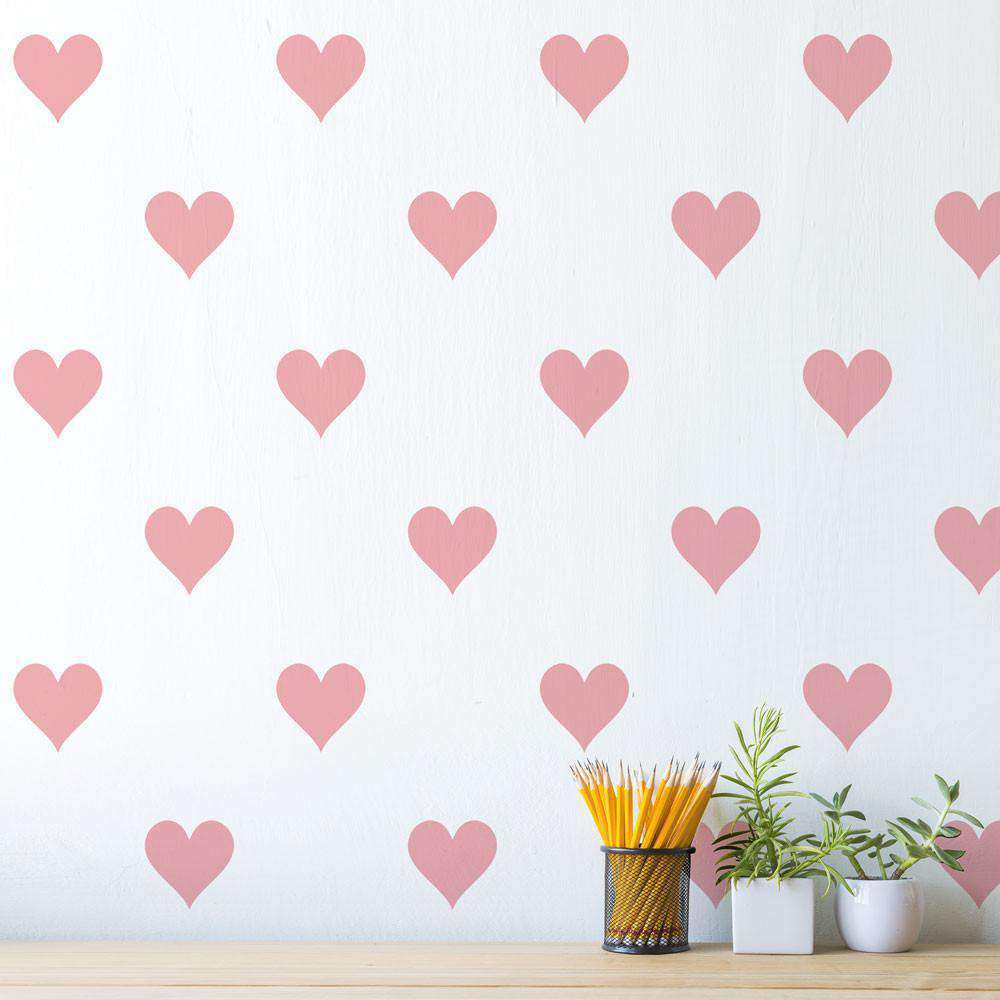 Heart wall stencil image collections home wall decoration ideas heart stencil allover pattern my wonderful walls wall heart stencil amipublicfo image collections amipublicfo Images