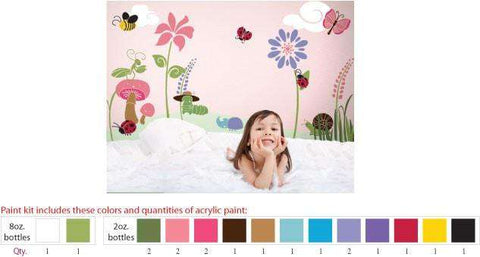 Bugs and Blossoms Stencil Paint Kit